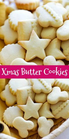 Butter Cookies (Extra Buttery and Crumbly!) - Rasa Malaysia - BEST Butter Cookies – easy and perfect recipe for the best, butter, crumbly, melt-in-your-mouth b - Chocolate Cookie Recipes, Easy Cookie Recipes, Dessert Recipes, Dessert Chocolate, Desserts, Chocolate Chips, Best Butter Cookie Recipe, Sugar Cookies Recipe, Easy Butter Cookies