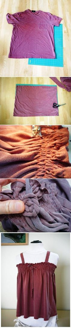 Fabulous Upcycled Clothing Projects  Make a Tank Top from a T-Shirt