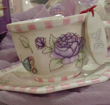 Calcos Vitrificables – Valija romántica Magic Party, Tea Pots, Dishes, Mugs, Tableware, Vintage, Decoupage, Craft, Ideas