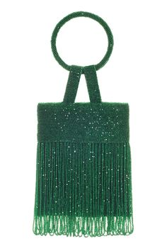 The lulu bag is delicate and timeless option for evening. Designed in New York, hand-embroidered in India, this sleek essential is an easy option for every wardrobe. Composition: Caviar beading with hanging ostrich feather fringe Imago lining. Beaded Clutch, Beaded Bags, Handbags On Sale, Luxury Handbags, Potli Bags, Unique Purses, Vintage Purses, Vintage Hats, Hand Embroidery Designs
