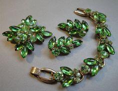 Juliana Rhinestone Parure Set of Bracelet by EyeCandyAntiques, $165.00