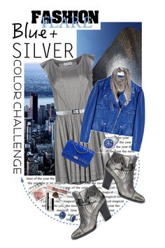 """""""Rock This Look: Blue and Silver"""" by shortyluv718 ❤ liked on Polyvore featuring moda, Mauro Grifoni, Golden Goose, Donald J Pliner, Chanel, Faliero Sarti, Versace, Napier e blueandsilver"""