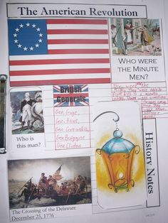 American Revolution lapbook via Practical Pages (Found Practical Pages via Notebooking Fairy)