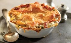 Chicken and Root Vegetable Pot Pie / Photo by Stephen Hamilton Puff Pastry Appetizers, Puff Pastry Recipes, Root Vegetables, Chicken And Vegetables, Just Cooking, Cooking Light, Potato Recipes, Chicken Recipes, Pea Recipes