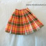 Barbie pleated skirt tutorial