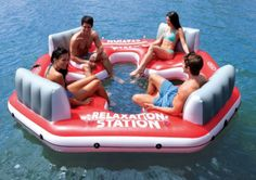INTEX Pacific Paradise Relaxation Station Water Lounge 4-Person River Tube Raft #inflatables #rafting See detail at http://zingxoom.com/d/cwHHJ7YV