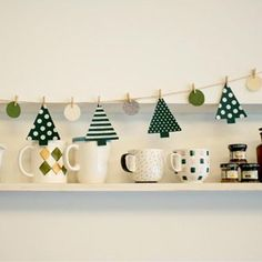 Bunting Flags, Buntings, House Party, Advent Calendar, Garland, Polka Dots, Banner, Christmas Tree, Holiday Decor