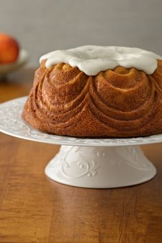 Fresh peaches and vanilla bean paste give this bundt cake amazing flavor!