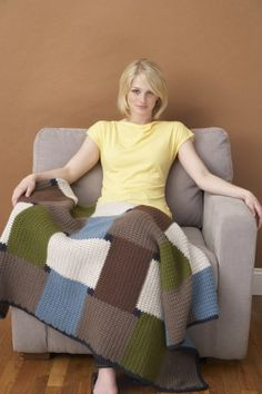 Crochet Checkmate Afghan: free pattern