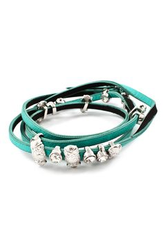 Owlette Charm Bracelet in Turquoise - totally adorable!
