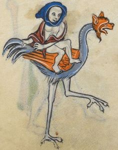 "Detail from ""The Rutland Psalter"", medieval (c1260), British Library Add MS 62925. f 107v"