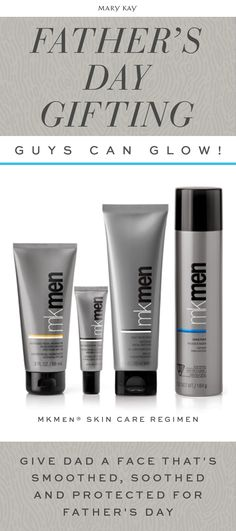 This Father's Day give dad the gift he can use all year long. MKMen® Skin Care Regimen includes four products to smooth, soothe, and protect skin so he can put his best face forward! | Mary Kay