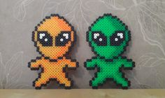 Take us to your leader! by RavenTezea.deviantart.com on @deviantART I wanted to do aliens for a while, I got two plushies that look just like these. :meow: My own design MAde with NABBI perler beads