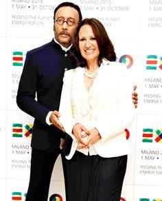 Jackie and Ayesha Shroff at preview of Expo Milano 2015.