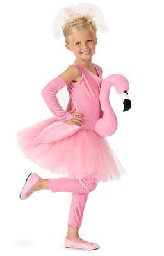 Flamingo Tutu Kids Costume This costume includes dress, arm warmers, leggings, and hair clip. Does not include shoes. Weight (lbs) 0.77 Length (inches) 14 Width (inches) 12 Height(inches) 3