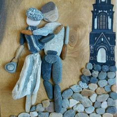 Ağaç alti A one amount resting it has the head in between snugly injury biceps Stone Crafts, Rock Crafts, Arts And Crafts, Stone Pictures, Pebble Pictures, Art Pierre, Pebble Art Family, Rock And Pebbles, Rock Design