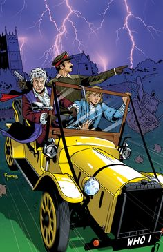 Here's my cover for the 3rd Doctor mini-series from Titan Comics! Of course, being able to include Brigadier Lethbridge-Stewart, Jo Grant and his faithful car, Bessie made working on this piece all...