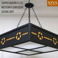 Copper Canyon Western Fluorescent Ceiling Light Kitchenlighting Countrykitchenlighting Kitchen Lighting
