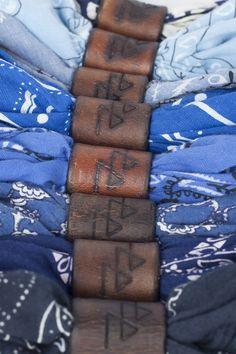 leather bandana ring