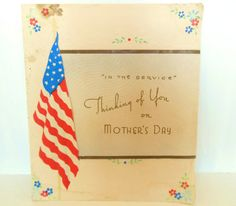 Vintage Mother's Day Card WWII Service by vintagebytheseashore, $4.99