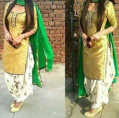 Designer Punjabi Suits, Indian Designer Wear, Indian Suits, Indian Wear, Indian Style, Indian Dresses, Punjabi Fashion, Indian Fashion, Patiala Salwar Suits