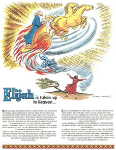 (Continued from 1961 ) The (more-or-less) chronological retelling of the Biblical stories begun with the February 1957 installment contin. Sunday School Activities, Sunday School Lessons, Sunday School Crafts, Bible Quiz, Children's Bible, Elijah Bible, Fire Crafts, Bible Drawing, Bible Teachings