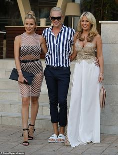 Arm-in-arm: Georgia and Kate were accompanied by their GBF and co-star, Bobby Norris