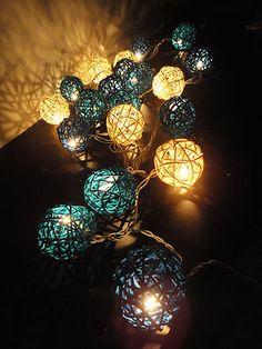 #Fairy light rattan balls