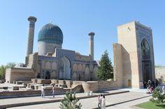 Samarkanda no Uzbekistão.  Na Rota da Seda