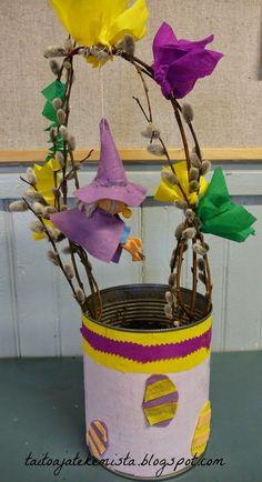 Iloista kevättä! Easter Crafts, Planter Pots, Flowers, Kids, Degree Of A Polynomial, Easter Garden, Young Children, Boys, Children