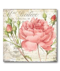 *Take a look at this Shabby Chic Roses II Canvas Wall Art by COURTSIDE MARKET on #zulily today!