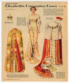77.6966: Elizabeth's Coronation Gown | paper doll | Paper Dolls | Dolls | Online Collections | The Strong