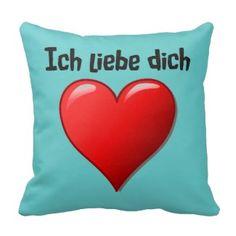 Ich liebe dich - i-Liebe Sie auf Deutsch Kissen
