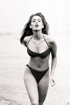 """""""Skinsuits"""", Playboy US, July 1988 {LATE 80'S} Photographer : Herb Ritts Model : Cindy Crawford"""