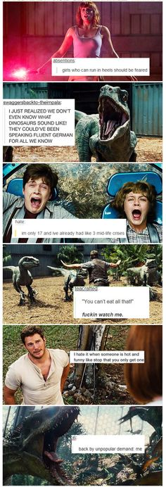 Jurassic World text posts