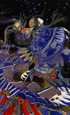 Yoshitaka Amano Figurative into abstraction   pattern. Like to a fish goddess take on this