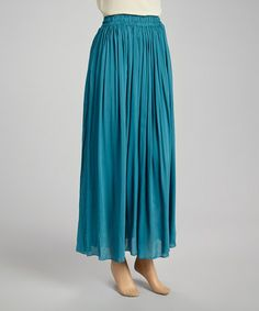 Another great find on #zulily! Turquoise Ruched Skirt #zulilyfinds