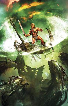 "artverso: ""Dave Wilkins - He-Man and The Master of the Universe "" Comic Movies, Comic Books Art, Book Art, He Man Tattoo, He Man Thundercats, Science Fiction, Hee Man, She Ra Princess Of Power, Universe Art"