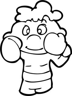 The Kid Boxing Coloring Page Coloring Book App, Free Coloring Sheets, Printable Coloring Sheets, Coloring Pages For Kids, Adult Coloring, Boxing Day, Kids Boxing, Tiger Outline, Fathers Day Coloring Page