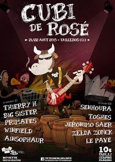 Cubi de Rosé – Music Festival – Poster