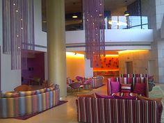 Bright lobby at a Missoni hotel