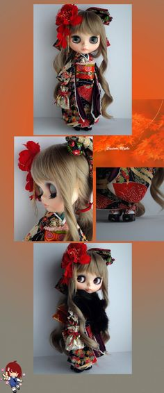 Custom Blythe Dolls: Kimono Custom Blythe - A Rinkya Blog