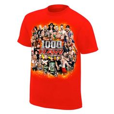 Raw 1000 Official Event T-Shirt from WWEShop, the official source for WWE Merchandise The Official WWE Shop Raw 1000, Trish Stratus, Wwe, Fashion Accessories, Sweatshirts, Sweaters, Mens Tops, T Shirt, Wrestling