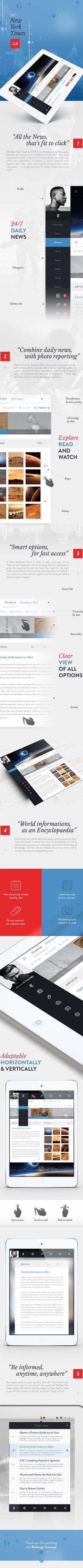 very interesting redesign concept - THE NEW YORK TIMES 2.0 on Behance