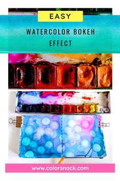 Easy Watercolor Bokeh Effect (1) Sketchbook Project, Sketchbook Drawings, Watercolor Sketchbook, Watercolor Illustration, Sketching, Watercolor Beginner, Easy Watercolor, Watercolor Design, Bokeh Effect