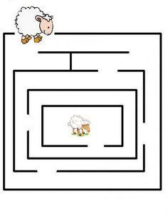 Activities For 6 Year Olds, Craft Activities For Kids, Preschool Writing, Kindergarten Math Worksheets, Mazes For Kids, Worksheets For Kids, Maze Worksheet, Kindergarten Portfolio, Pre Writing