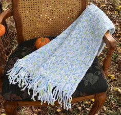 Crochet Neck Scarf, Soft, Warm, and Bulky White, Baby Blue, Light Lime Blend, Unisex, Long With Fringe,  Winter Wear, Great Gift Idea! by VeeSwan on Etsy
