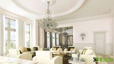 #Classic 3D #Interior #Living #Room #Design