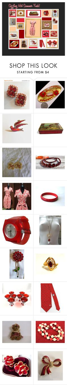 """Sizzling Hot Summer Finds!"" by anna-ragland ❤ liked on Polyvore featuring Diane Von Furstenberg, Versace and vintage"