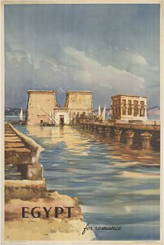 Vintage travel poster of Egypt #kitsakis